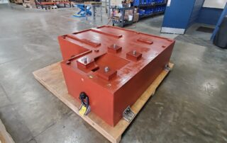 L shape precision polymer pump base