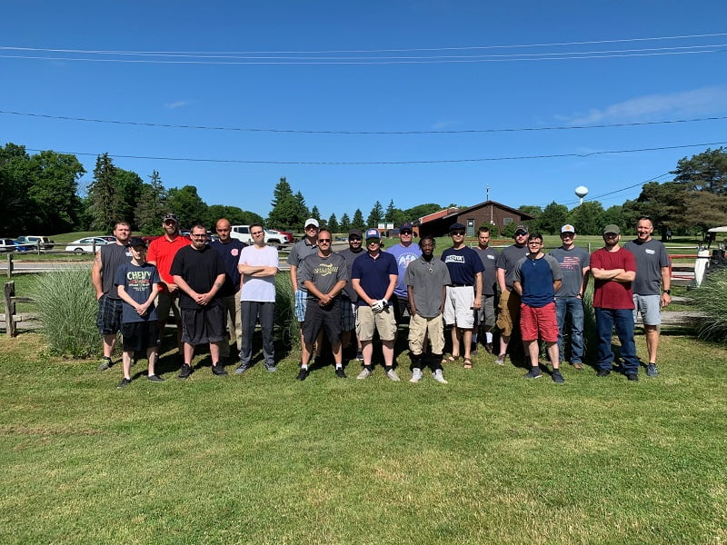 2019 BaseTek golf outing on a beautiful summer day