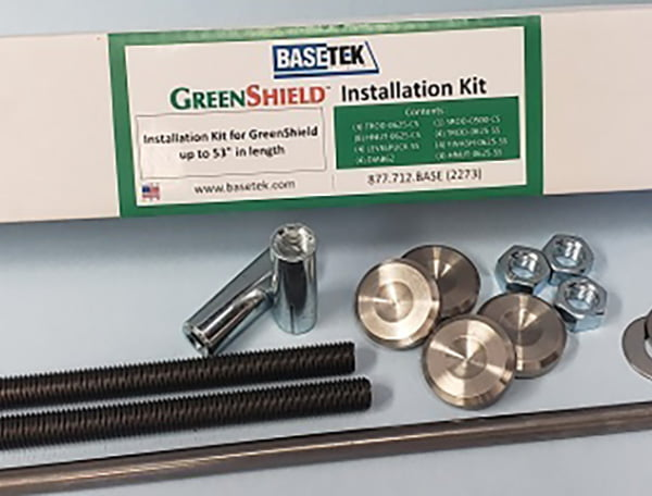 GreenShield Installation Kit with all parts expanded