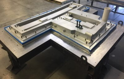 Steel tooling for a Precision polymer casting