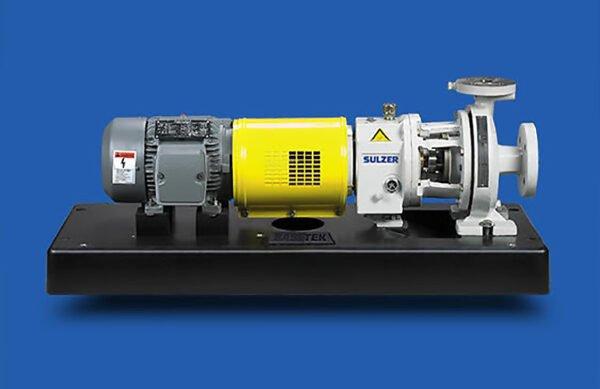 Sulzer frame mounted ANSI/ASME pump on a polymer concrete base