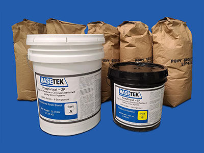 PoxyGrout-ZP premium epoxy grout shown in standard 4 bag it