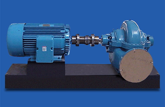 Split case pump on custom polymer PoxyBase with TEFC motor